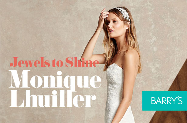 Jewels to Shine Up Monique Lhuillier's Latest Wedding Gowns