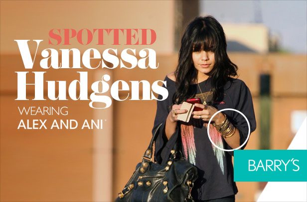 SPOTTED: Vanessa Hudgens in Alex and Ani