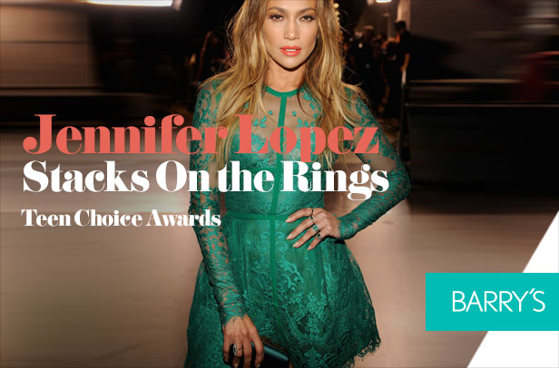 Jennifer Lopez Stacks On the Rings at the Teen Choice Awards