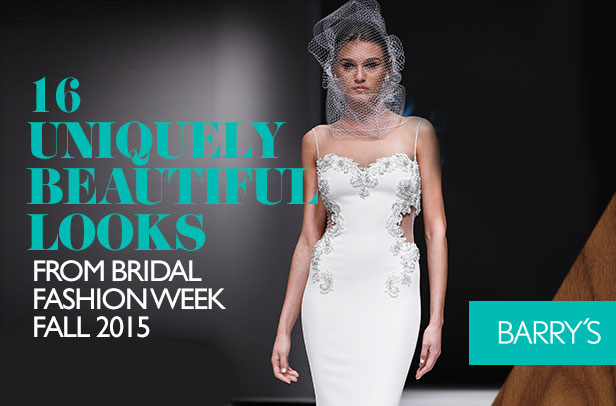 16 Uniquely Beautiful Looks From Bridal Fashion Week Fall 2015