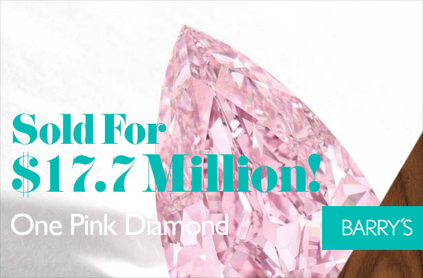 You Heard Right: One Pink Diamond Sold For $17.7 Million!