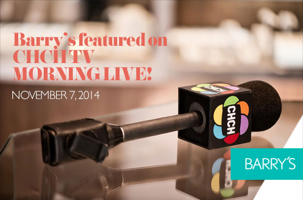 Featured: Barry's on CHCH TV Morning Live!