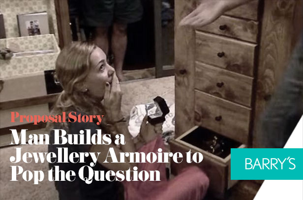 Proposal Story: Man Builds a Jewellery Armoire to Pop the Question