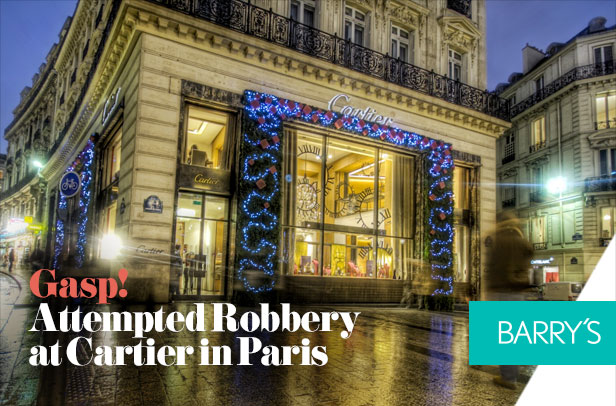 Gasp! Attempted Robbery at Cartier in Paris