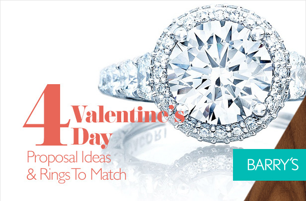 4 Valentine's Day Proposal Ideas and Rings To Match