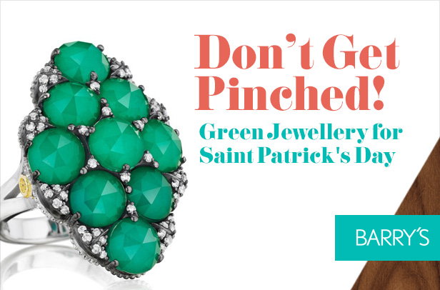 Don't Get Pinched! Green Jewellery for Saint Patrick's Day
