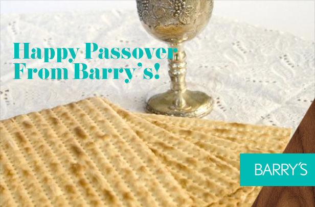 Happy Passover From Barry's!