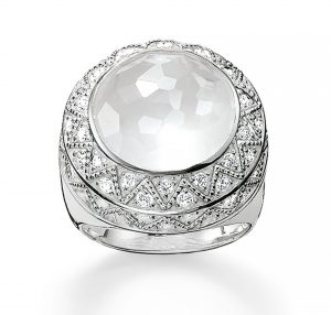 white cocktail ring thomas sabo barrys jewellers