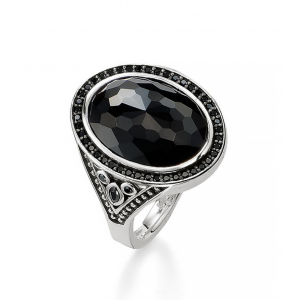 black onyx thomas sabo ring cocktail ring barrys jewellers
