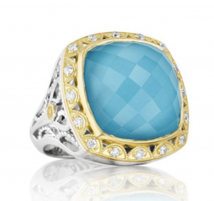 barbados blue tacori ring barrys jewellers cocktail ring