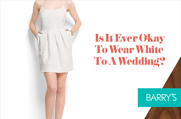 Is It Ever Okay To Wear White To A Wedding?