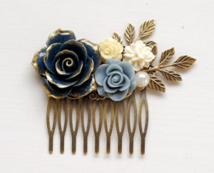 something blue wedding ideas hair clip comb barrys jewellers