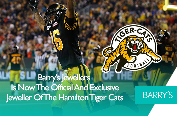 Barry's Jewellers is a Proud Sponsor of the Hamilton Tiger Cats