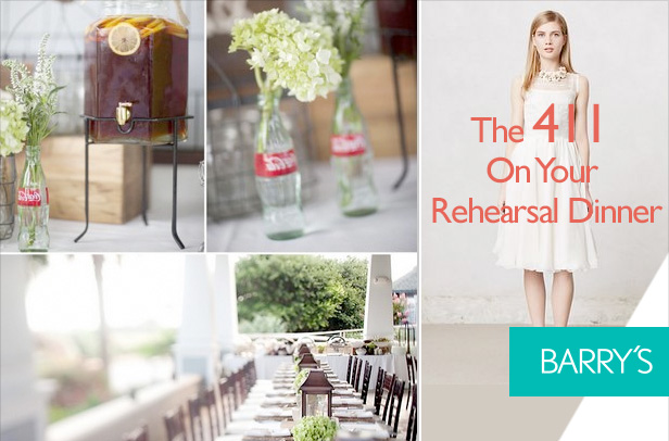The 411 On Your Rehearsal Dinner