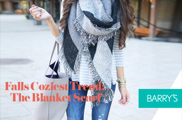 Falls Coziest Trend: The Blanket Scarf