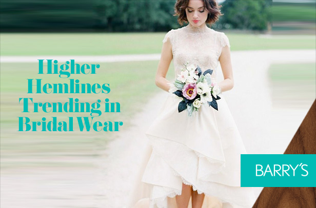Higher Hemlines Trending in Bridal Wear