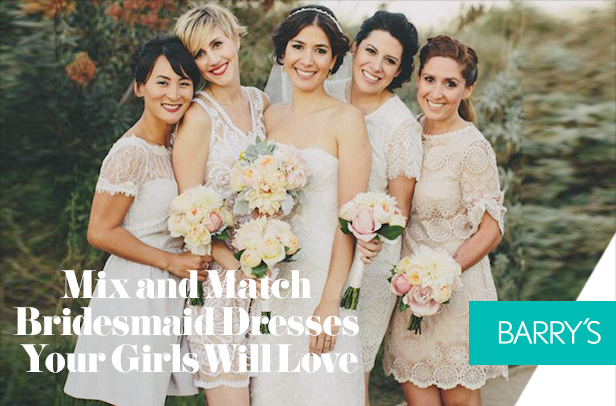 Mix and Match Bridesmaid Dresses Your Girls Will Love
